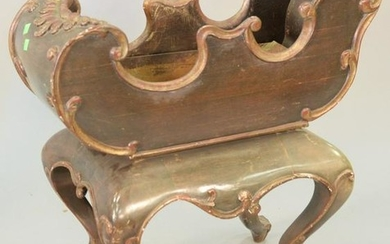 "Louis XV style planter with metal tray, 28"" x 27""."