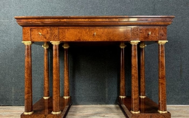 Mahogany desk with dressing table function - Empire Style