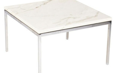 Mid-Century Florence Knoll Marble Top Table
