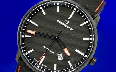 MomoDesign - Automatic Watch Essenziale Red Tone Black PVD Swiss Made - MD6004BK-12 - Men - Brand New