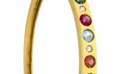 Multicolor bangle GG 690/000 with 8 round fac.,...