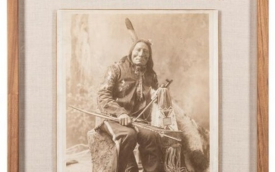 [NATIVE AMERICAN] Imperial Photograph of White Cow Man.