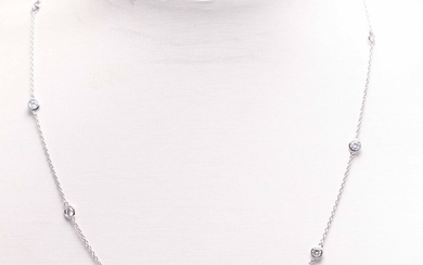 Necklace with brilliant cut diamonds 1.00ct