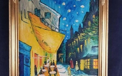 Oil on Canvas Reproduction of Van Gogh's The Cafe