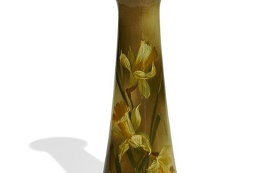Owens Pottery Co. vase decorated with jonquils