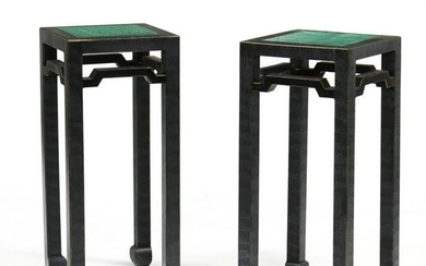 Pair of Chinese Style Painted Stands