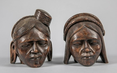 Pairs of North Africa Carved Wood Figure