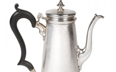 Preview lot: A George II Silver Coffee-Pot, by John Manners,...