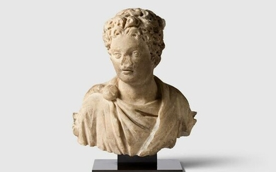 ROMAN BUST OF A YOUNG MAN EUROPE, C. 3RD CENTURY A.D.