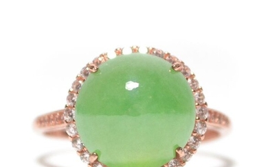Ring - Natural Jadeite (Type A) - Certified - China - 21st century