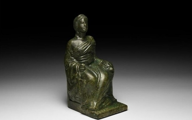Roman Statuette of Cybele Seated with Lion