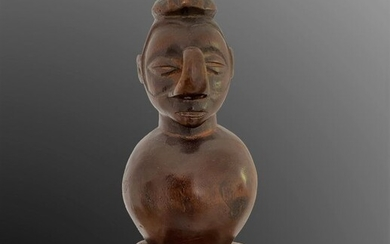 Sifflet à figure anthropomorphe - Wood - Congo DRC - 1st half 20th century