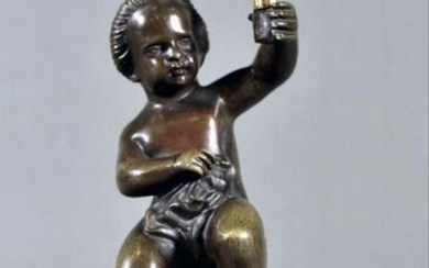 Small Bronze Figure On Gilt Bronze Base