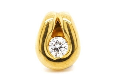 Solitaire diamond and 18ct yellow gold enhancer by Gregory j...