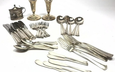 Sterling Silver Flatware Place Setting for 6. Flatware