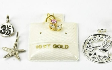 Sterling Silver & 10kt Gold Charms & Pendants