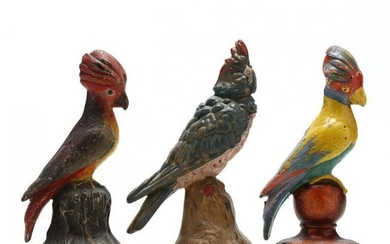 Three Vintage Cockatoo Doorstops