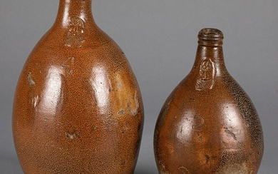Two German stoneware bellarmine jugs