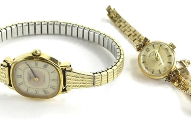 Two wristwatches, to include a 9ct gold Rotary ladies...