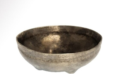 Viking Silver Bowl with Punch Decoration
