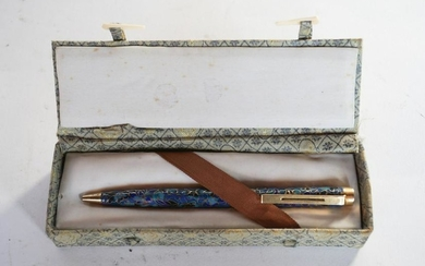 Vintage Chinese Cloisonne Writing Pen in Box