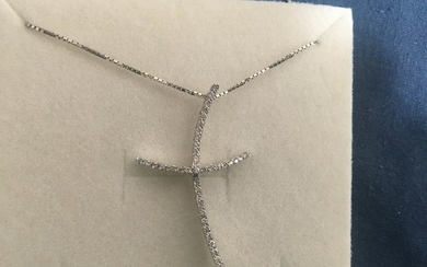 White gold - Necklace with pendant Diamond