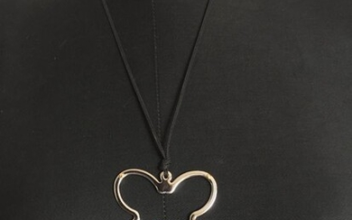 White gold, Yellow gold - Necklace with pendant