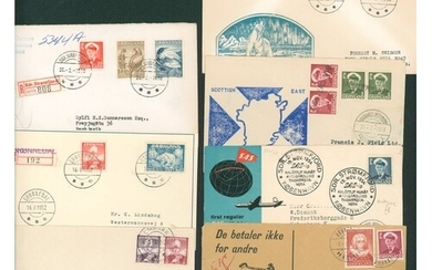 c1952-80 definitive issues on cover with a good variety of c...