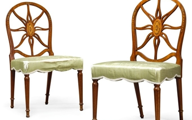 A PAIR OF GEORGE III MAHOGANY SIDE CHAIRS, CIRCA 1775, ATTRIBUTED TO HENRY HILL OF MARLBOROUGH