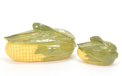 (2) Covered Casseroles, Shawnee Pottery Corn King