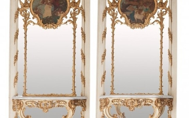 61008: A Pair of Monumental Italian Rococo-Style Painte