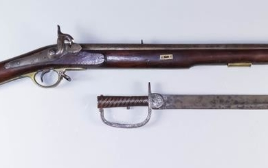 A Brunswick Musket, 18th Century, Nepalese Model, the 36ins...