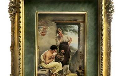 A Framed Berlin KPM Porcelain Plaque