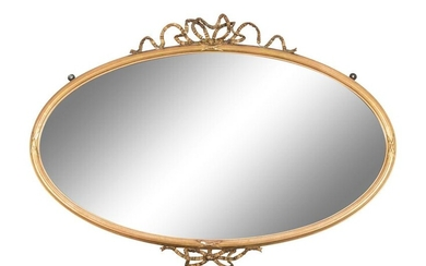 A French Giltwood Mirror Width 38 inches.
