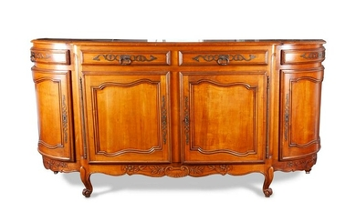 A French Provincial Style Fruitwood Serving Cabinet
