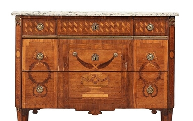 A Gustvian late 18th century commode attributed to Anders Lundelius