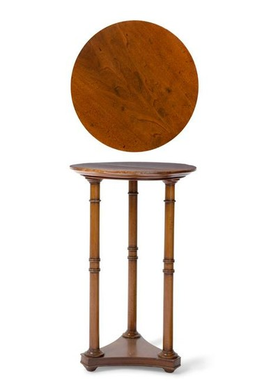 A Neoclassical style carved walnut gueridon