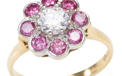 A PINK AND WHITE DIAMOND RING BY GREG TYMOSZUK