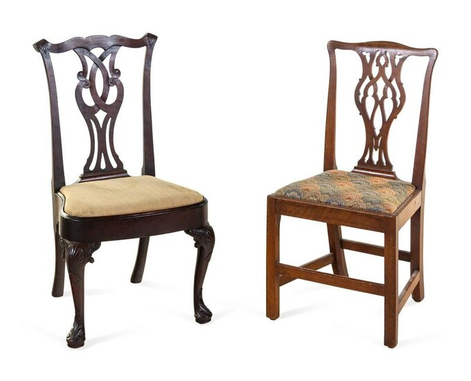 A Queen Anne Mahogany Side Chair and a George III