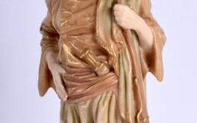A ROYAL WORCESTER FIGURE OF A MALE BRINGAREE INDIAN