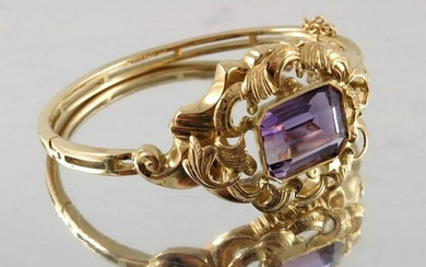 A Victorian style 18 carat and 9 carat gold and