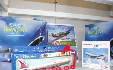 A book on Airfix, 50 years of kits and 4 model aircarft