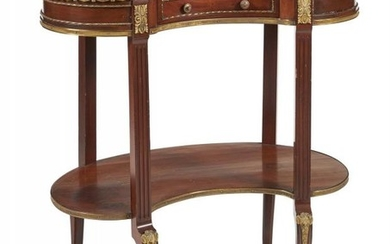 A mahogany and gilt metal mounted occasional table
