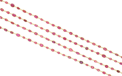 A ruby longchain necklace