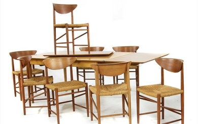A set of eight 'Model 317' dining chairs