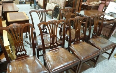 A set of six early 20th century mahogany dining chairs in Ge...