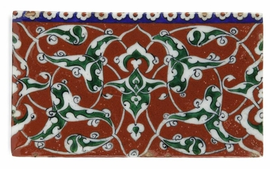 AN IZNIK POLYCHROME POTTERY TILE, TURKEY, CIRCA 1700