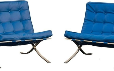 """After Ludwig Mies van der Rohe """"Barcelona"""" Chairs"""