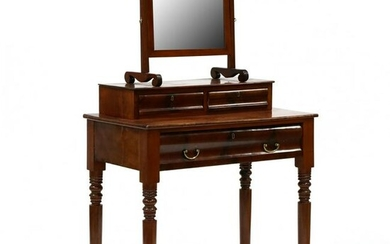 American Late Classical Mahogany Dressing Table