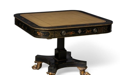 An English Chinoiserie decorated games table